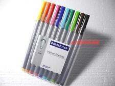 Staedtler Triplus Fineliner 0.3mm Markers Pens 10 Colours Set, Made in Germany