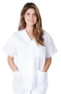 Natural Uniforms Unisex Scrub Top Men/Women Medical Hospital Nursing V-Neck Top