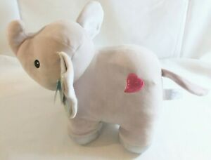 "Hug Me Elephant Plush Stuffed Animal 11"" Gray Soft Squishy sparkle Valetine New"