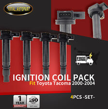 4x Ignition Coils for Toyota Tacoma 2000-2004 2.4L 2.7L 9091902237 2RZ-FE 3RZ-FE