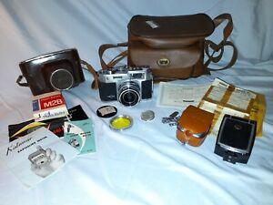Vintage 1959 Neoca 35 IV S full kit including camera, case, light meter, flash