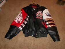 RARE Premier Edition JH Detroit Red Wings 1997 Stanley Cup Leather Jacket