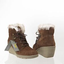 Cat Footwear Harper Fur P308005 Women's Shoes Brown Wedge Boots Size 7 M NEW!