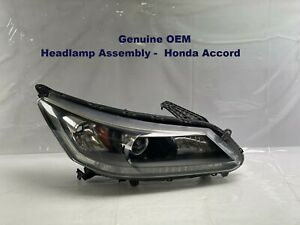 2013 2014 2015 HONDA ACCORD SEDAN PASSENGER SIDE HALOGEN HEADLIGHT W/O LED OEM