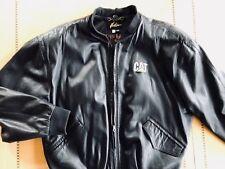 Custom Leather Men's 'CAT' branded jacket
