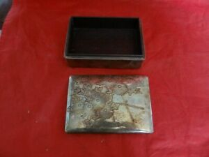 Very Fine Vintage Antique Japanese 999 Sterling Silver Engraved Box Signed