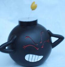 black bomb coin bank six inches money piggy