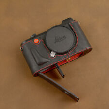 For Leica CL Genuine Leather Camera Half Case With Hand Grip