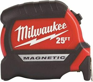 Milwaukee electric tool 25 ft compact magnetic tape measure