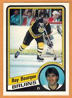 1984-85 , OPC , O-PEE-CHEE , RAY BOURQUE , CARD #1