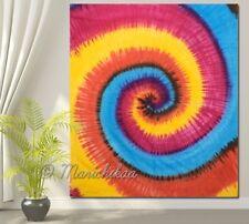 Queen Size Spiral Multi Tie- Dye Wall Hanging Mandala Tapestry Bohemian Decor