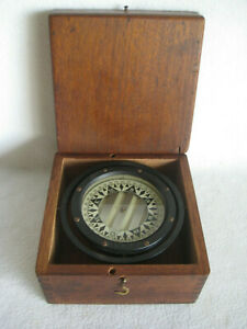 Vintage Star Boston USA Ship's Compass in Wooden Box #435258