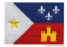 CAJUN FLAG PATCH embroidered iron-on ACADIANA FRENCH LOUISIANA STATE SOUVENIR