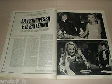 RUDOLF NUREYEV LEE RADZIWILL clipping ritaglio articolo photo EUROPEO 1967/48
