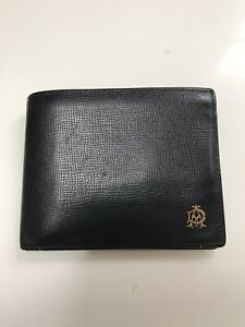 Dunhill Bifold Black & Oxblood Leather Wallet