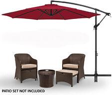 10' Patio Sun Shade Hanging Umbrella Offset Canopy Outdoor Market W/ Base