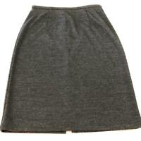 Ann Taylor Women's Size 6 Charcoal Gray Knee Length Pencil Skirt Wool