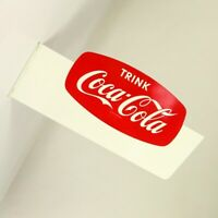 Trink Coca Cola Werbe Reklame Schild Flaggen Ausleger Schild 50er 60er Jahre