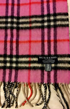 Authentic Pink Burberry 100% Cashmere Scarf