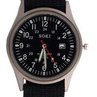 SOKI Quarz Militaerarmee Sport Mann Armbanduhr Zifferblatt Kalender Uhren Leg BS