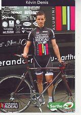 CYCLISME carte cycliste KEVIN DENIS équipe VERANDA RIDEAU
