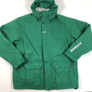 Oakley Ski & Snowboard Loose Fit Winter Jacket Size XXL Green Shell Pockets EUC