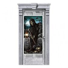 Fête de Halloween Porte Bannière Décoration Cimetière Faucheuse Grave Digger