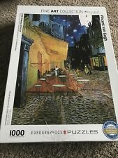 "Eurographics 1000 piece Van Gogh ""Cafe Terrace at Night"" Jigsaw puzzle Used"