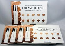 (5) Rodan and + Fields Radiant Defense Sample Makeup Cards, 10 SHADES