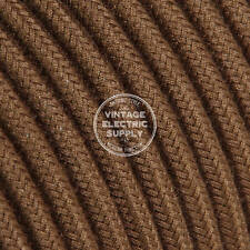 Brown Cotton (UL) Cloth Covered Electrical Wire - Braided Fabric Wire