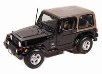 Jeep Wrangler Sahara Black Maisto 31662 1/18 Scale Diecast Model Toy Car