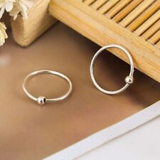 New 925 Sterling Silver Solid 10MM Piercing Round Plain Huggie Hoop Earrings