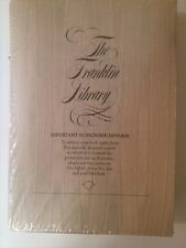Sir Francis Bacon Selected Writings-The Franklin Library Leather Bound-New