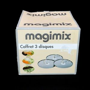 Magimix Creative Kit Food Processor Lot 3 Disc Fluted Disk, Julienne, Extra Wide