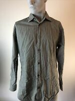 Banana Republic Men's L Green Striped Long Sleeve Dress Shirt