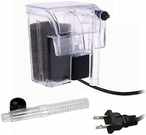 Aquarium Fish Tank  Waterfall Hang On External Oxygen Pump Water Filter USA