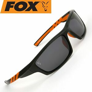 Fox Sunglasses Black Orange wraps grey lense - Polbrille, Polarisationsbrille