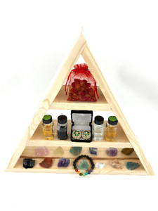 Triangle Shelf for Boho Room Decor, Altar Shelf, Boho Bathroom Decor, Triangle