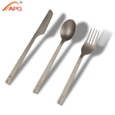 APG Titanium Cutlery Knife Fork Spoon Camping Picnic Tableware 49g Cookware Kit