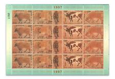 Cambodia 1997 Cattle Year Of Ox Full Sheet Mint Stamps Chinese Famous Painting