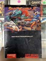 !@ Street Fighter II 2 SNES Super Nintendo MANUAL ONLY! Instruction Booklet!