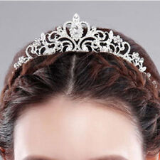 Luxury Bridal Princess Rhinestone Crystal Hair Tiara Wedding Crown Headband AU