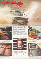 Lada 1200 Prospekt car brochure Auto PKWs Autoprospekt Broschüre Russland