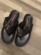 Prada men casual flip flops sliders slip ons shoes rare 100% authentic rare