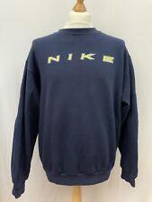 Mens | Vintage Nike Spell Out Crew Neck Sweatshirt Jumper | Navy | Size M