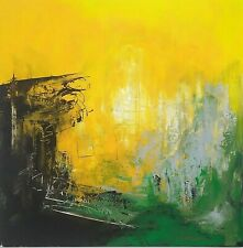 Original Abstract Art Painting Modern Contemporary Expressionist Medium Signed