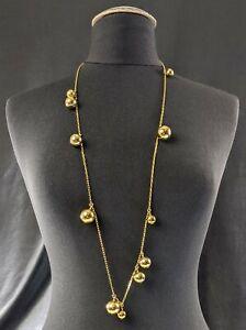 Fabulous Charm Necklace Golden Balls Signed J. CREW Jewellery