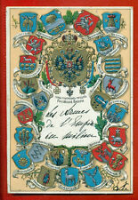 RUSSIA COATS OF ARMS OF PROVINCIAL CITIES VINTAGE EMBOSSED PC. RARE 1606