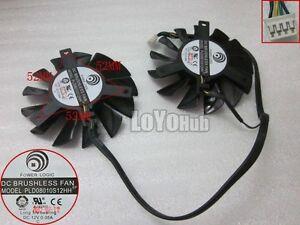 MSI GTX 560 570 R6970 graphics card fan POWER LOGIC PLD08010S12HH 12V 4-Pin 75mm