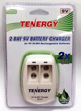 Tenergy VANSON 2 Bay NiMH /& NiCd 9V Battery Charger CH V228 T228 plug-in compact
